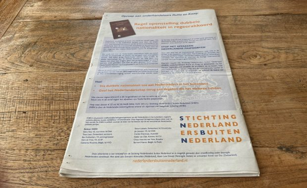 foto NRC 14 augustus SNBN advertentie